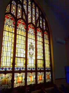 Central - Sanctuary - South 5-Lancet Stained Glass Window