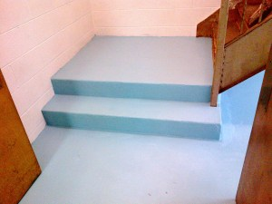 Emergency Exit Stairway Project - Floor 1 - 7-25-2013