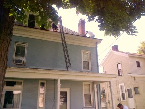 Central - Parsonage - Gutter Cleaning - 8-2-2013