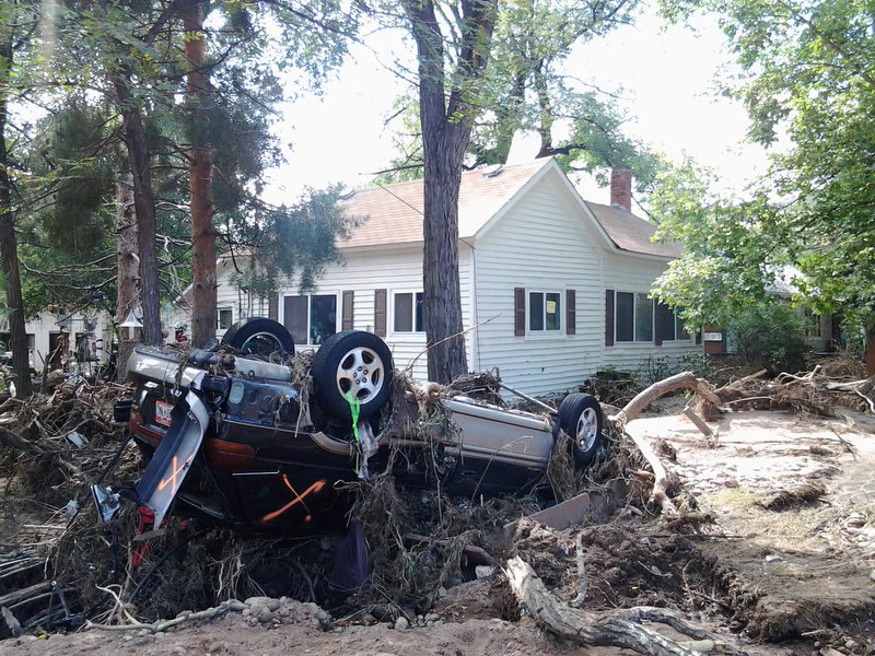 Flooding caused massive damage in Lyons, Colo. A UMNS photo courtesy of Emily Flemming.