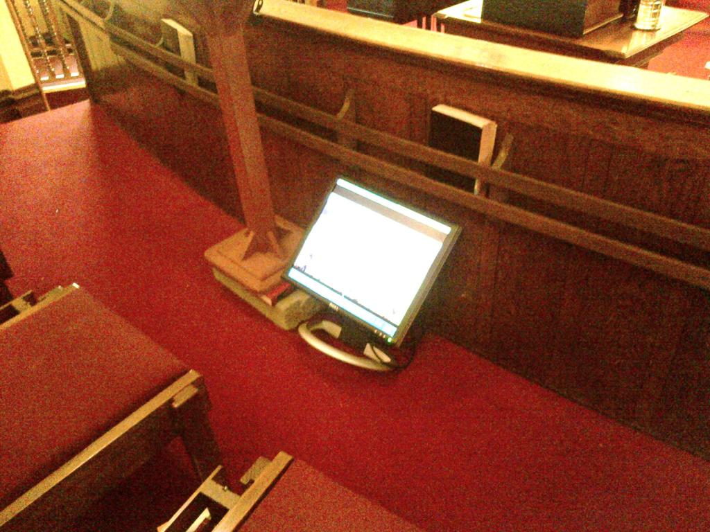 Central - New Choir Loft Video Monitor 2 - 10-2-2013