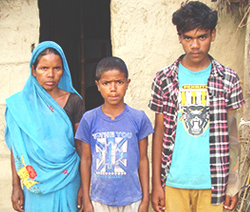 Debalal's wife and two sons, 9 and 15 years old, are being taken care of by the local church during this time.