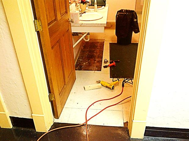 Central - Ladies Restoom Floor - 11-19-2013