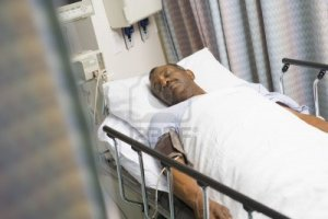 Father in Hospital Bed