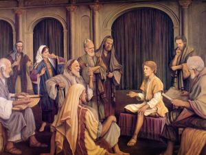 Jesus, age 12, at the Temple