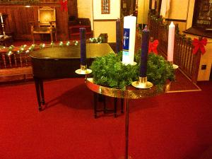 Central Church's Advent Wreath