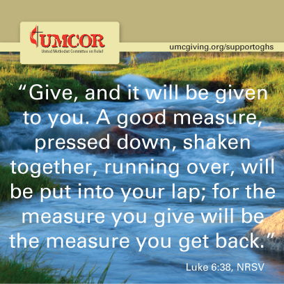 UMCOR - Luke 6-38