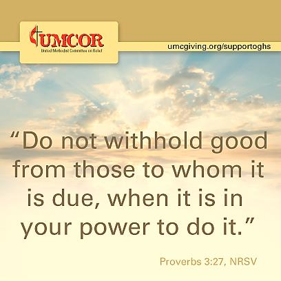 UMCOR - Do Not Withhold Good