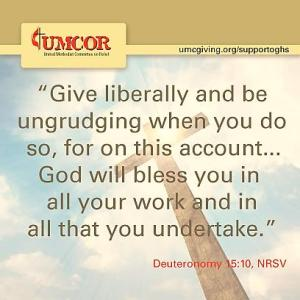 UMCOR - Give Liberally