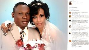 Wedding photo of Meriam Ibrahim and Daniel Wani