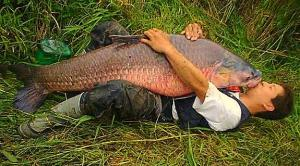 Jimmy Houston Kissing Fish