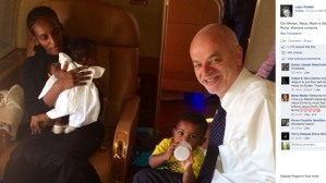 Italy's Vice Minister at Foreign Affairs travels from Sudan with Ibrahim and her family.