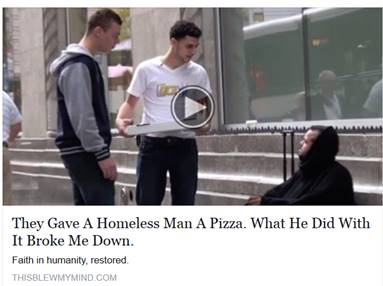 Homeless Pizza