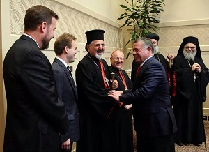 King Abdullah II meets with regional and international Christian leaders.