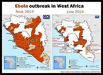 Ebola - Map in West Africa