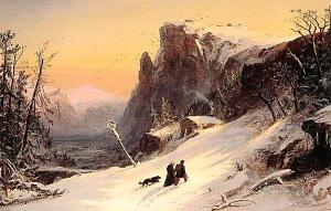 Winter in Switzerland, by Jasper Francis Cropsey (1823-1900)