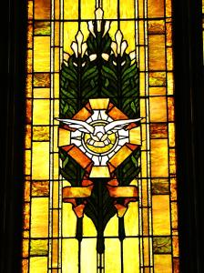 Central Church's Holy Spirit Stained Glass Window