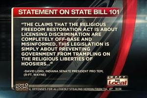 Indiana Religious Freedom Restoration Act
