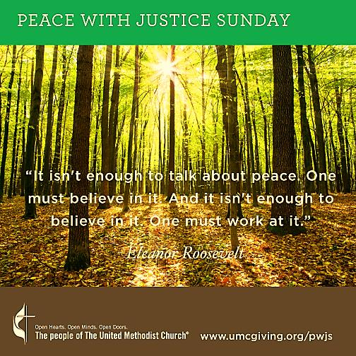 Peace with Justice Sunday 2
