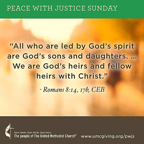 Peace with Justice Sunday 3