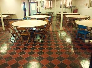 Central's Fellowship Hall floor has been refinished!