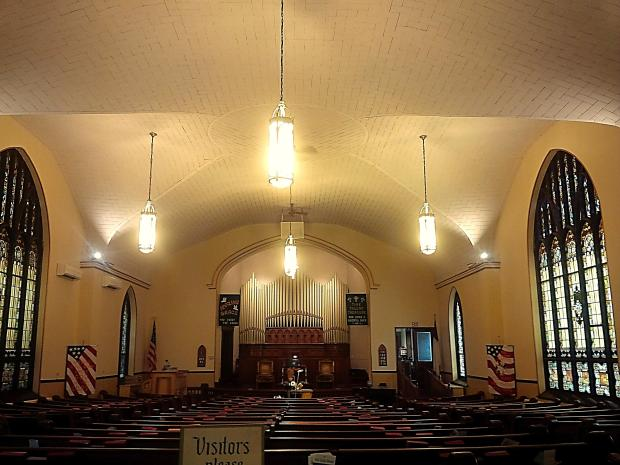 Central - Sanctuary Lights with New LED Lights 2a - 6-20-2015