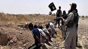 ISIS gunmen prepare to execute five young men by the roadside for various alleged offenses including refusal to fast during Ramadan.