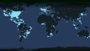 Map of YouVersion users worldwide.